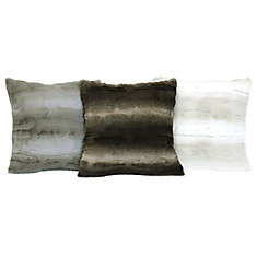 Ombre Faux Fur Cushion 18-inch x 18-inch