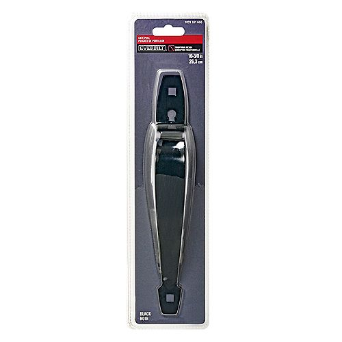 Everbilt 10-3/8-inch Ornamental Gate Pull in Black - 1pk