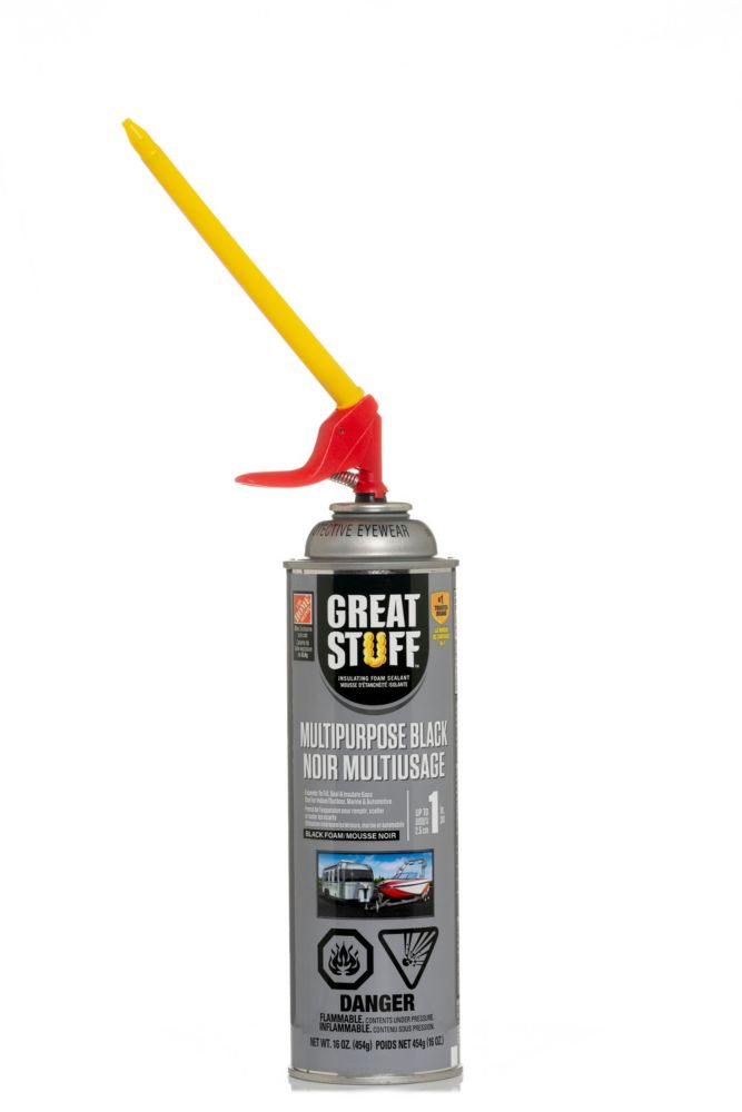 GREAT STUFF Smart Dispenser  Multipurpose Black Insulating Foam Sealant 16Oz