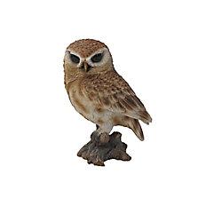 Hi-Line Gift Brown Owl on Stump Statue