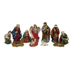 Hi-Line Gift 11-Piece Nativity Set Statue, 8-inch Tall