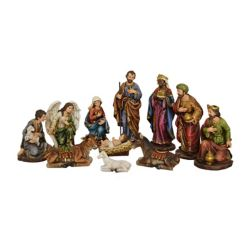 Hi-Line Gift Nativity and Three Wise Men Set Statue, 12-inch Tall