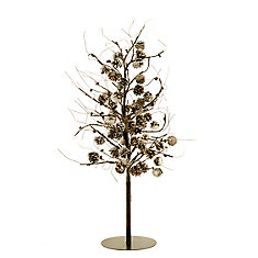126 Rice Lights Floral Tree Pioncones with AC Adapter