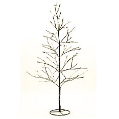 160 LED Lights Floral Tree with Snow, AC Adapter Included