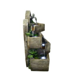 Hi-Line Gift Multi-Level Pouring Crates Fountain
