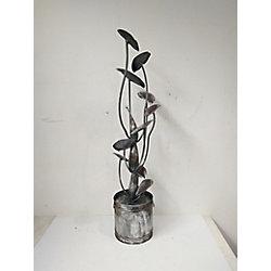 Hi-Line Gift Zinc Metal Calla Lily Fountain