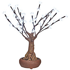48 LED Lights White Floral Bonsai Tree