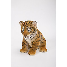 hi line gift tiger cub sitting statue the home depot canada