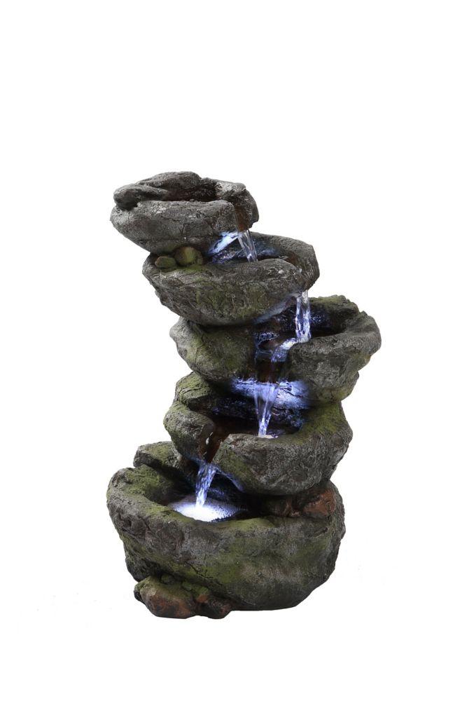 Hi-Line Gift 5-level Rock Fountain