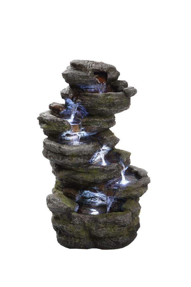 Hi-Line Gift Multi-level Rock Fountain