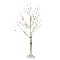 48 LED Lights White Birch Tree