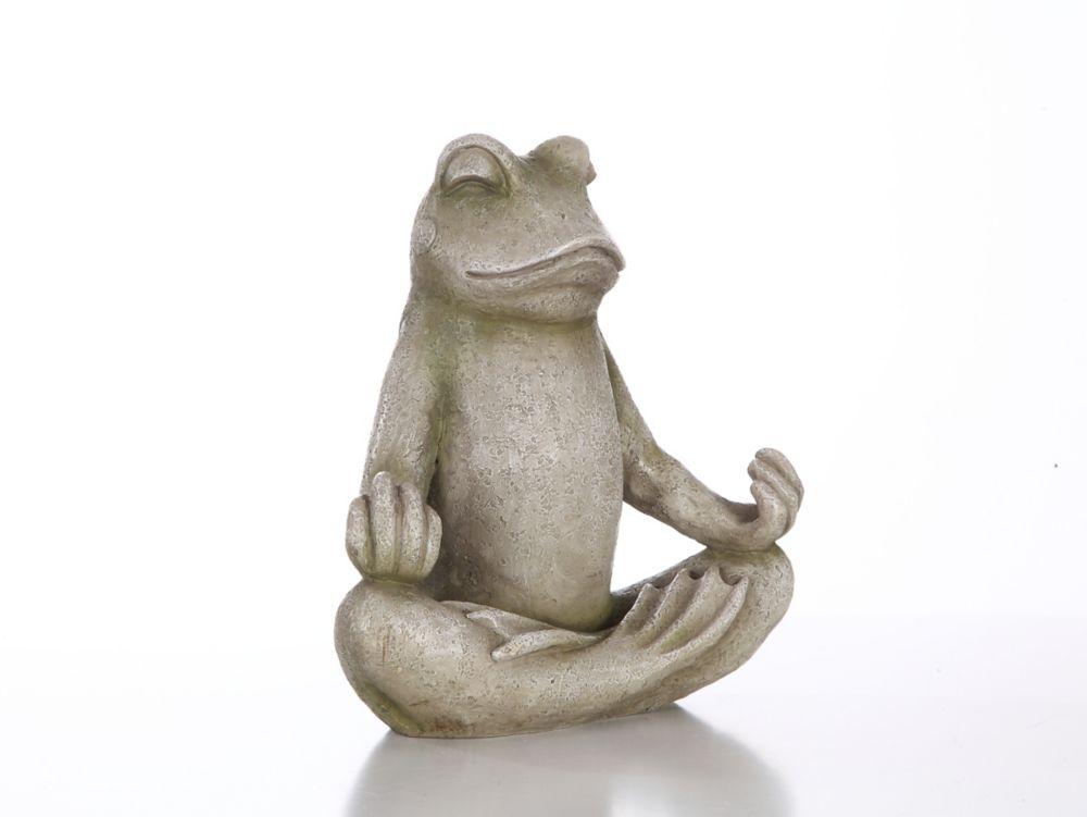 Hi-Line Gift Frog Sitting in Lotus Statue
