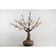 36 Warm White LED Lights Floral Bonsai Tree