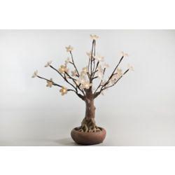 Hi-Line Gift 36 Warm White LED Lights Floral Bonsai Tree