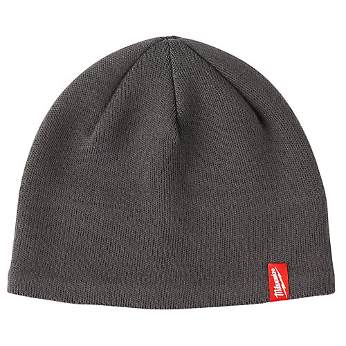 Men's Gray Fleece Lined Knit Hat