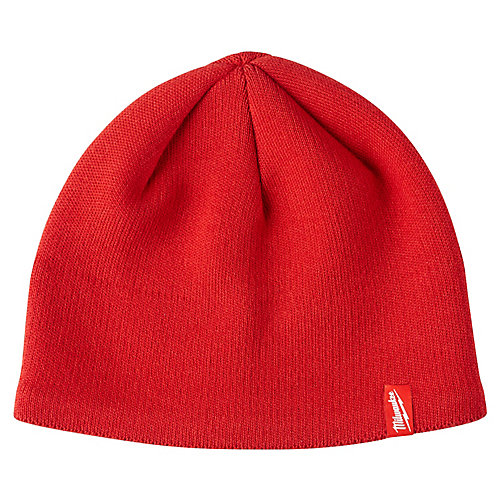 Men's Red Fleece Lined Knit Hat