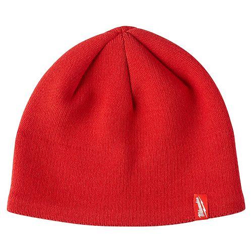 Milwaukee Tool Men's Red Fleece Lined Knit Hat