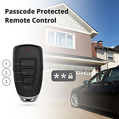 3-Button Keychain Remote with Passcode Feature