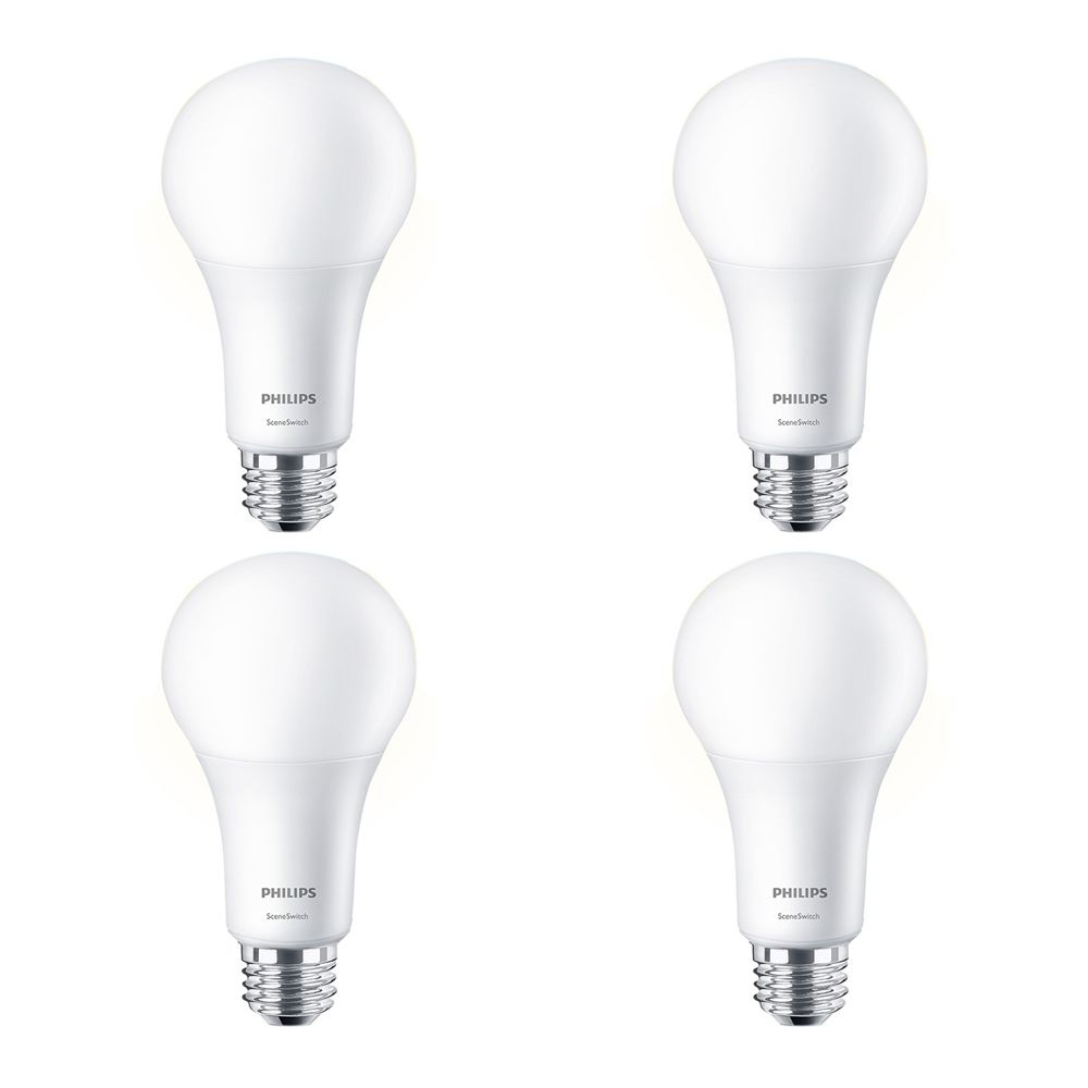 Philips LED 100W A21 SceneSwitch Colour(2200K, 2700K, 5000K) - Case of 4 Bulbs