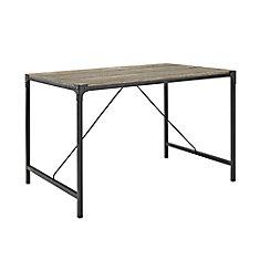 Table de salle à manger en bois flotté à cornières de 121cm (48po)