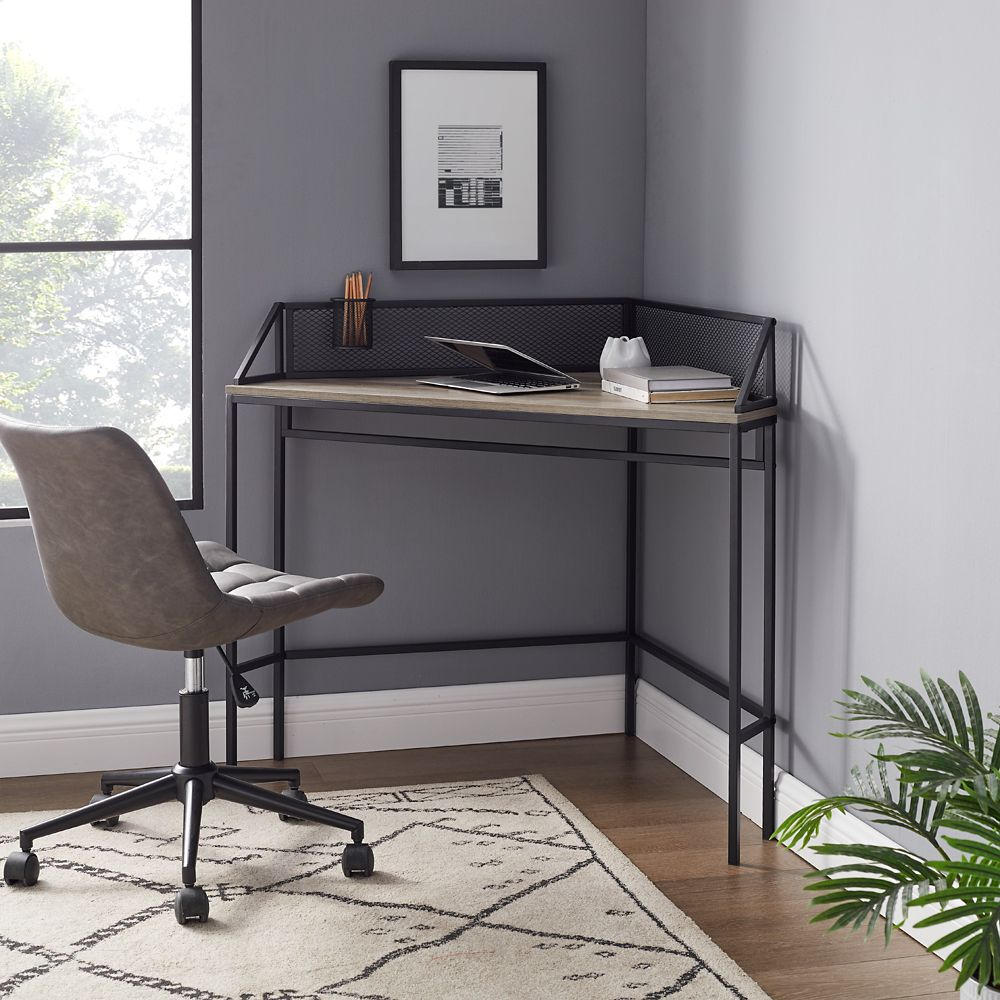 Walker Edison 40 Inch Wood Storage Coffee Table With