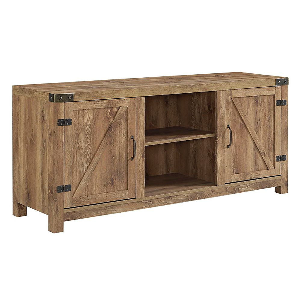Walker Edison Farmhouse Barn Door Tv Stand For Tv S Up To 64 Inch