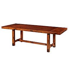 Table de salle à manger en bois de chêne foncé vieilli de