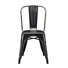 Stackable Metal Café Bistro Chair - Antique Black