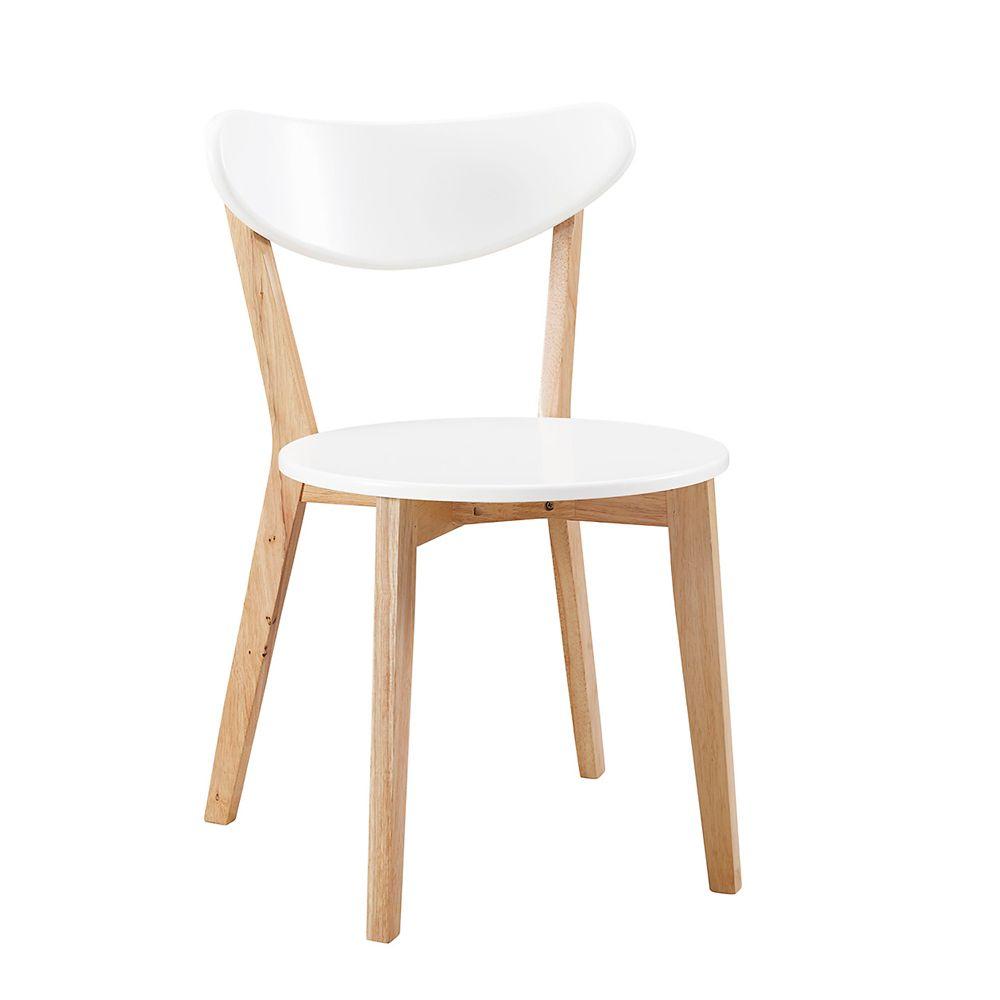 Retro Modern Wood Kitchen Dining Chairs - Set of 2 Photo of product & Walker Edison Retro Modern Wood Kitchen Dining Chairs - Set of 2 ...