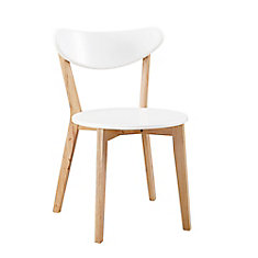 Retro Modern Wood Kitchen Dining Chairs - (Set of 2)