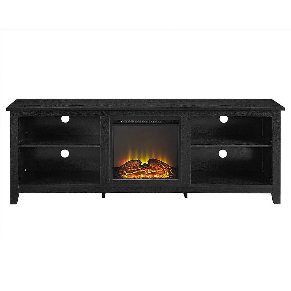 Walker Edison Minimal Farmhouse Fireplace Tv Stand For Tv