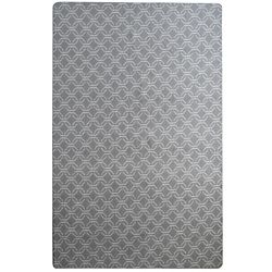 Lanart Rug Geoloop Grey and White 8 ft. x 10 ft. Indoor Area Rug