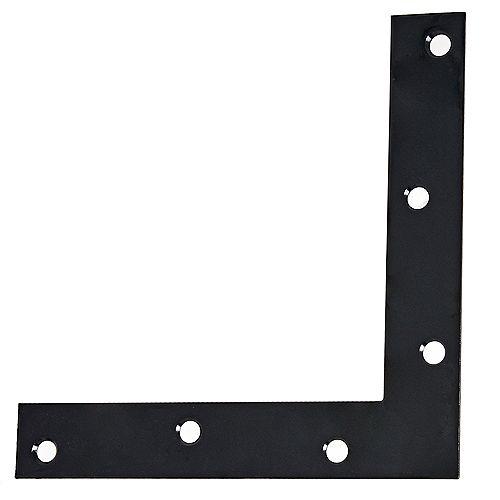 Everbilt 6-inch Flat Corner Brace in Black - 1pc