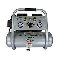 1610SPQ Compresseur d'air avec réservoir d'acier, sans huile, silencieux, 6,05 L, 1,0 CV