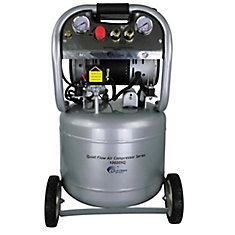 10020SQ Compresseur d'air avec réservoir d'acier, sans huile, silencieux, 37,85 L, 2, CV