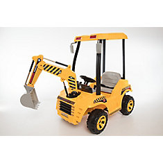 12V Battery Powered Backhoe Ride-On Toy