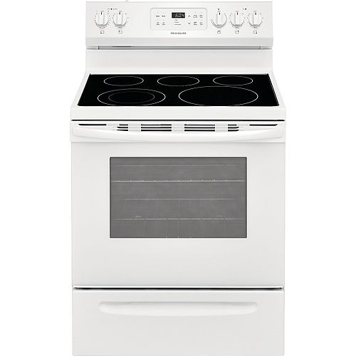 Frigidaire 30-inch 5.3 cu. ft. Freestanding Electric Range with Self-Cleaning Oven in White