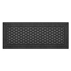 Black 2 ft. x 5 ft. Embossed Needlepunch Floor Mat