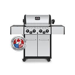 Broil-Mate Barbecue au gaz naturel avec armoire, 40 000 BTU, acier inoxydable