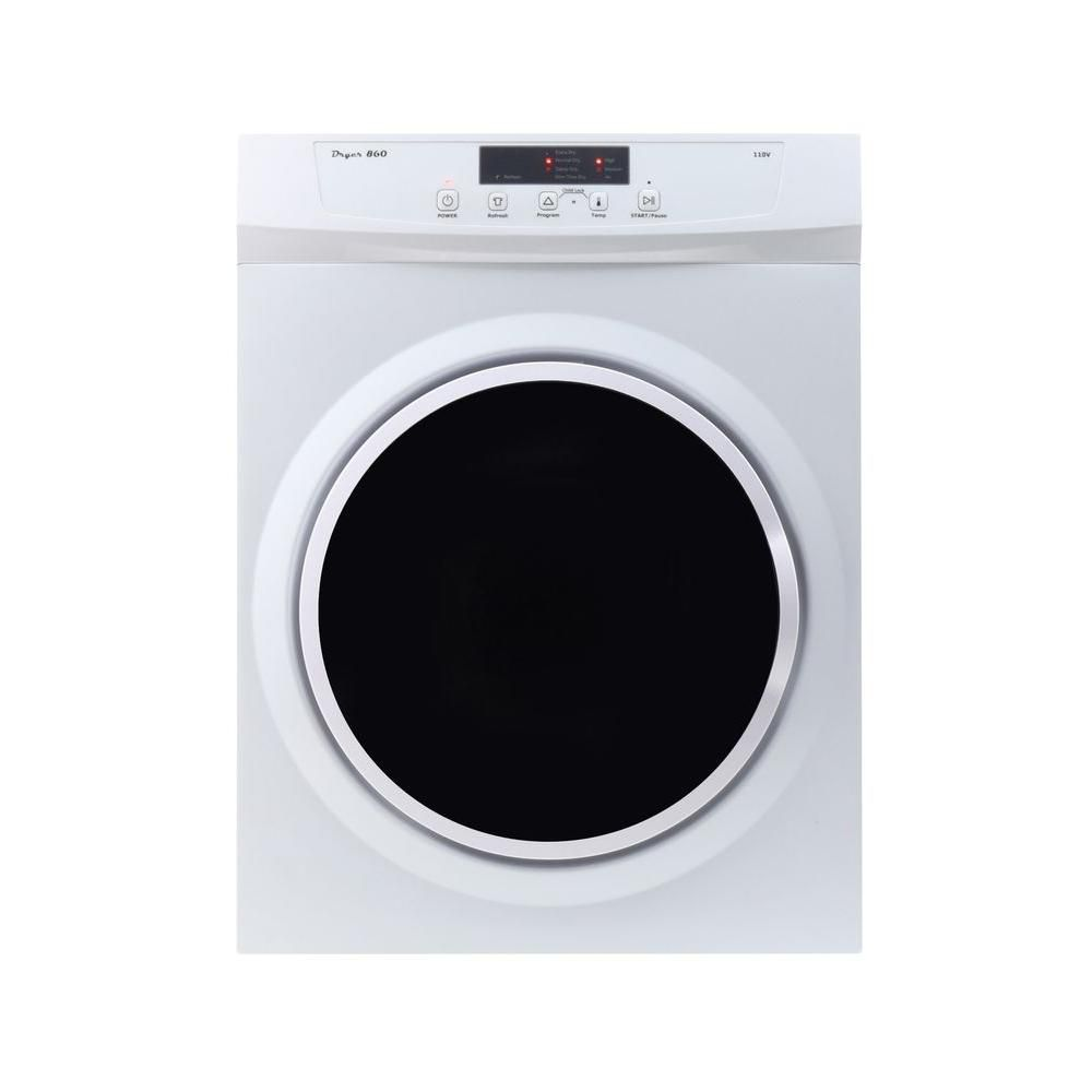 Equator 110V plug, 3.5cu. Ft. Compact Electric Dryer with Sensor Dry, Refresh function and Wrinkle guard