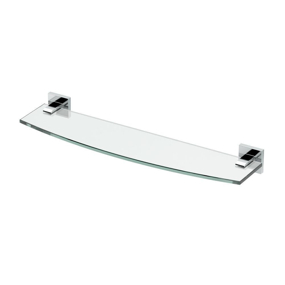 Gatco Elevate 20 1/8 inch L Glass Shelf Chrome