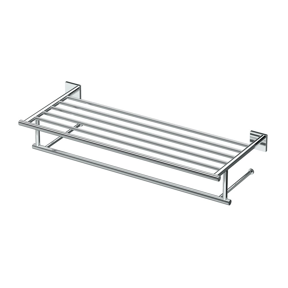 Gatco Elevate 25 3/4 inch L Minimalist Spa Towel Rack Chrome