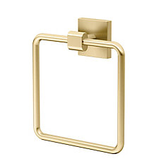 Elevate Towel Ring Brushed Brass