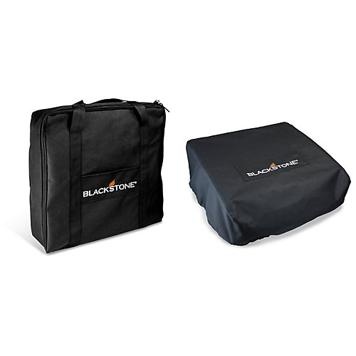 Heavy Duty Carry Bag and Cover Set for 17-inch Table Top Griddle (2-piece set)