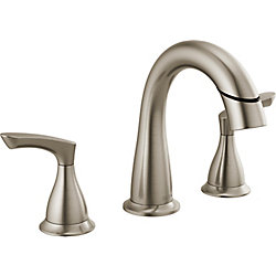 Delta Broadmoor Two Handle Widespread Pulldown Bathroom Faucet - SpotShield Brushed Nickel