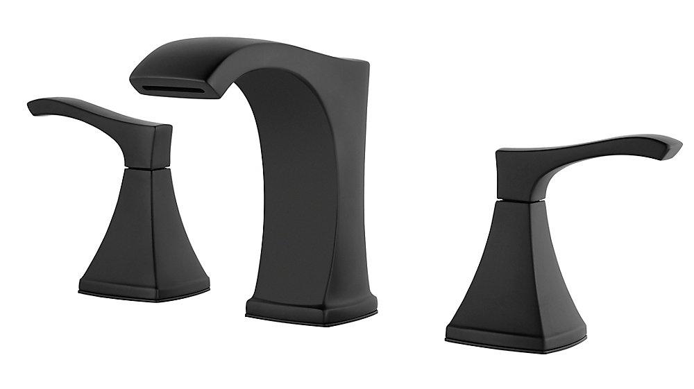 Venturi 8 Inch Widespread Lav Faucet in Black