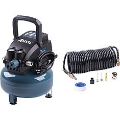 2gal pancake air compressor with 7pcs inflation accessories