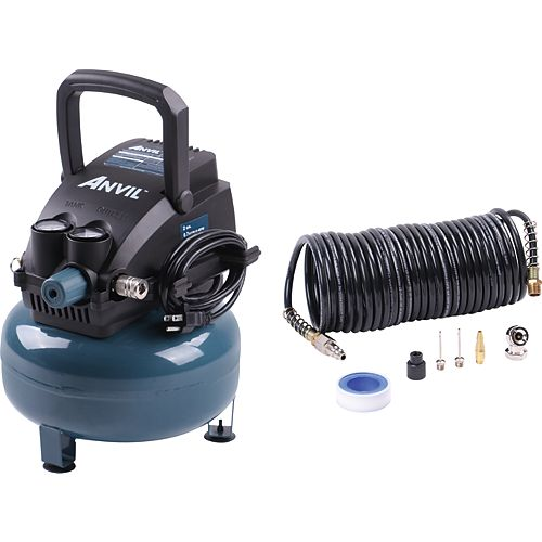 Anvil 2G Pancake Air Compressor with 7-Piece Accessories Kit