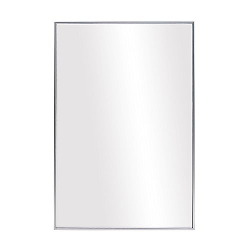 The Tangerine Mirror Company Infinity Satin Silver Vanity Mirror