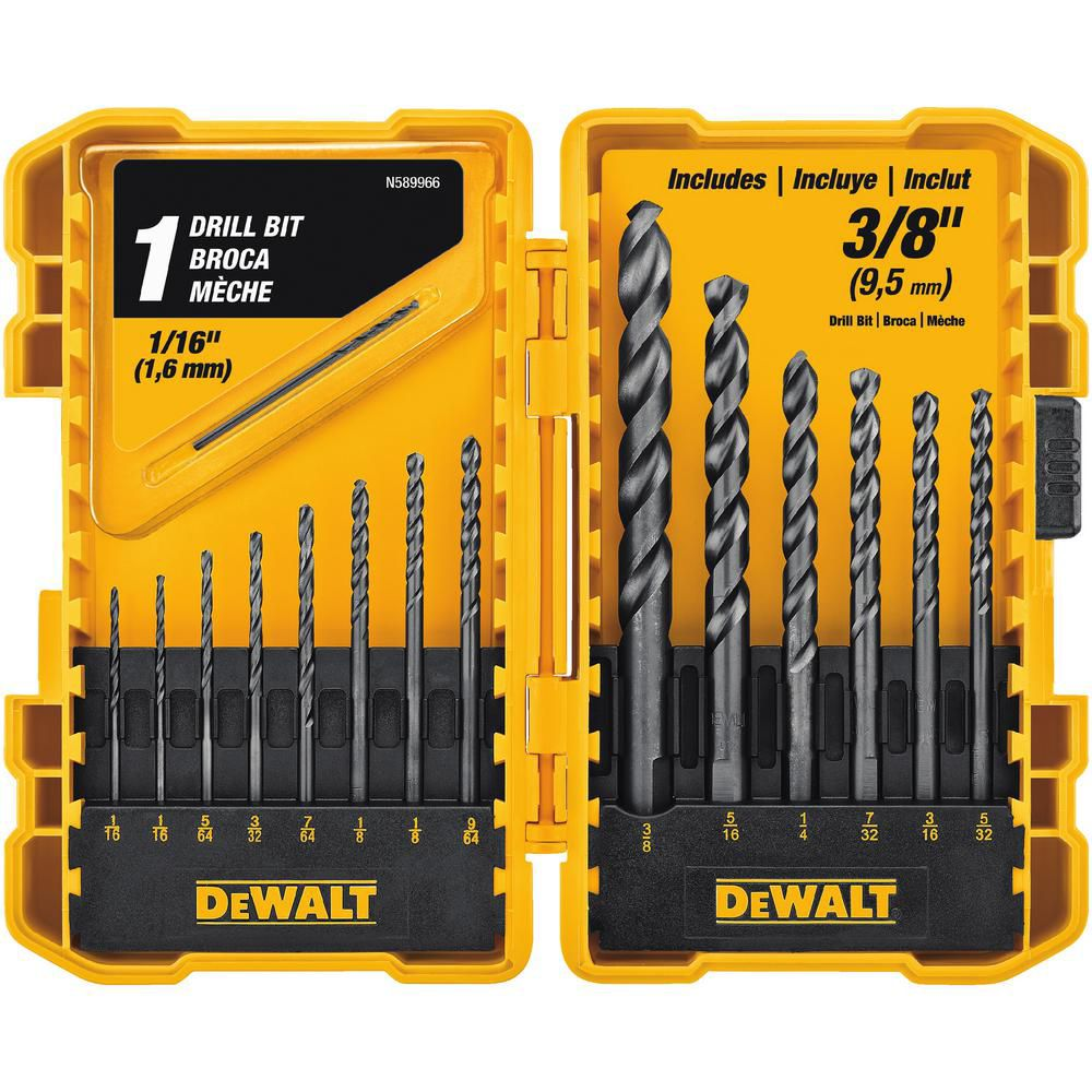 DEWALT Black Oxide Drill Bit Set (15-Piece)